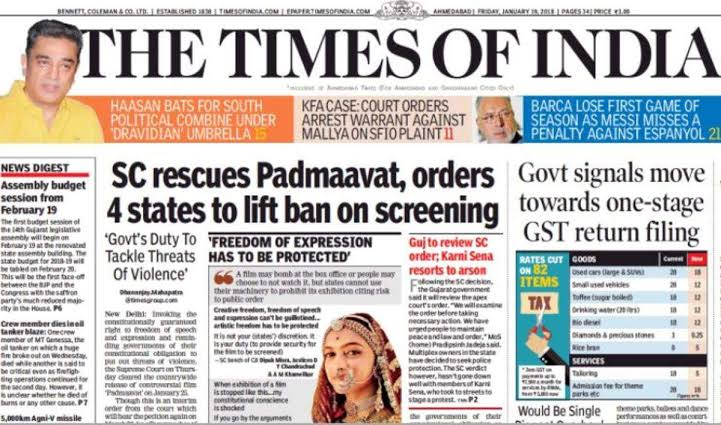 How The Times of India, The Hindu and Others were banned